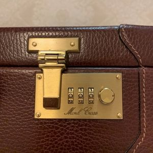 Mark Cross Leather Briefcase - Pre-Owned Unisex